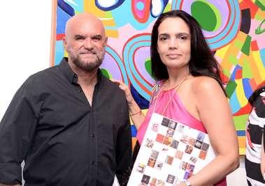 Jolivaldo Freitas colunista da Tribuna da Bahia e Rita Moraes em fotos de valterio