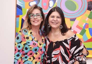 Priscila Nogueira e Cica da Galeria de Arte Paulo Darzé