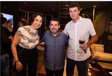 Leise Scabini  (lojista SDB), Wilton Oliveira e Leandro Campos