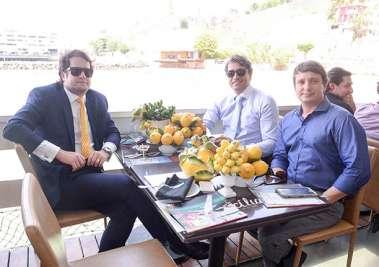 Diego Ribeiro, Jenner Kruschewsky e Fabízzio Muller Superintendente da Transalvador em fotos de valterio