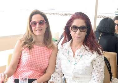 Fátima Suarez e Jussara Amorim em fotos de valteiro
