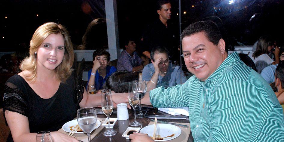 Marcelo Sacramento foi comemorar a posse jantando com Mônica no Soho
