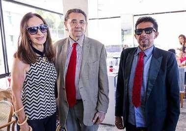 A agroindustrial Verinha Luedy, José Mendonça ex-prefeito de Gandu, e Valterio Pacheco presidente fundador da Casa da Criança Carente