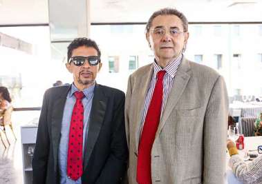 Valterio Pacheco com o empresário José Mendonça
