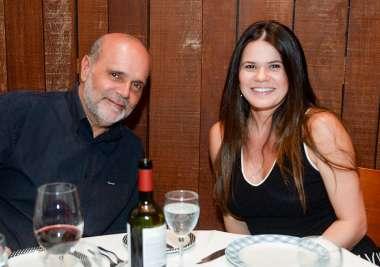 Paula e Everton Visco jantando no Amado em fotos de Valterio Pacheco