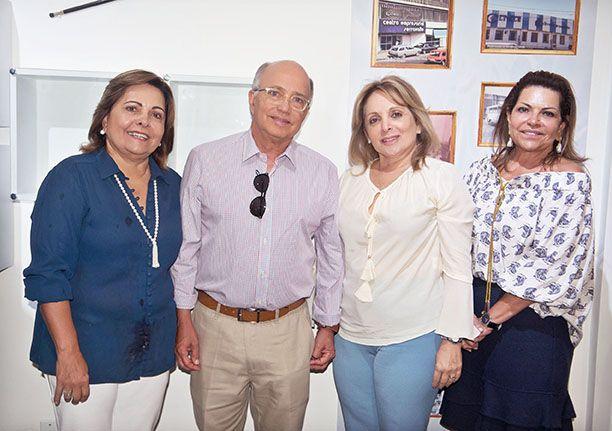 Tereza Cristina, Alberto Luiz, Maria Celane e Viginia Serravalle comemorando os 100 anos do pai Alberto Serravalle