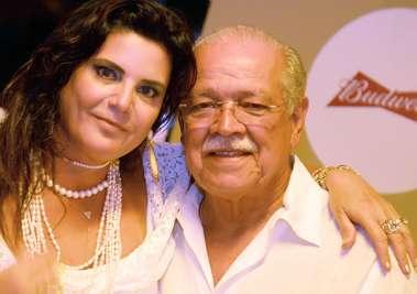 Tércia e Cesar Borges no Reveilon do Yacht Clube da Bahia