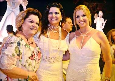 Gel Pinheiro, Tércia Borges e Monica Sacramento no Reveillon do Yacht Clube