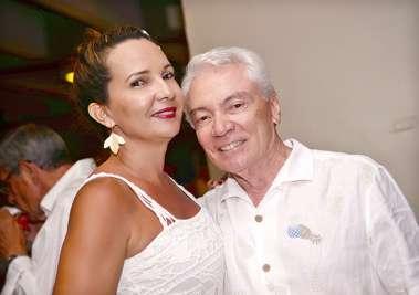 Dr. João Soares de Almeida e Senhora no Reveillon do Yacht Clube da Bahia