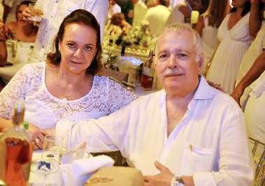 Vera e Eduardo Jorge Magalhães no Reveillon do Yacht Clube da Bahia