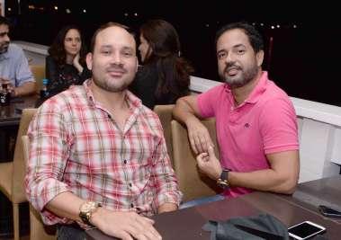 Carlos Amorim e Alex Carvalho no Soho