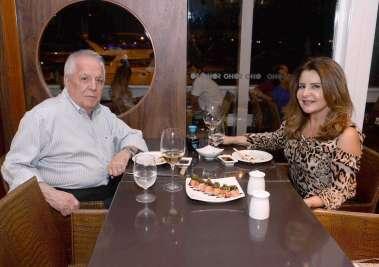 Francisco Amaral e Graça jantando no Soho