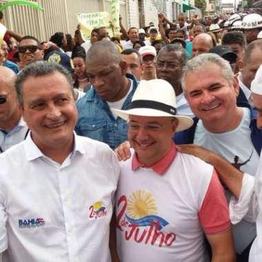 Rui Costa, Fábio Vilas - Boas com o deputado Ângelo Coronel o futuro senador pela Bahia