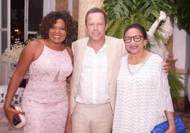 Margareth Menezes, Vik Muniz fotógrafo e Lícia Fábio em fotos de Valterio Pacheco