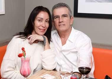 Marco Aurélio Maia e Sandra Cortizo no Restaurante Das em fotos de Valterio