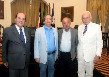 Antonio Rodrigues Nascimento Filho, Luiz Américo Lisboa Júnior, Prof. José Nilton Carvalho Pereira e Antonio Luiz Calmon Teixeira em fotos de Valterio