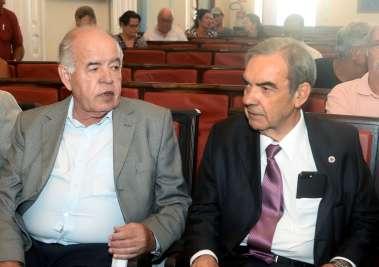 José Nilton Carvalho Pereira vice presidente do IGHB com o presidente Eduardo Moraes de Castro em fotos de Valterio