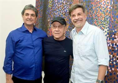 Paulo Darzé, Siron Franco e Fernando Guerreiro em fotos de Valterio