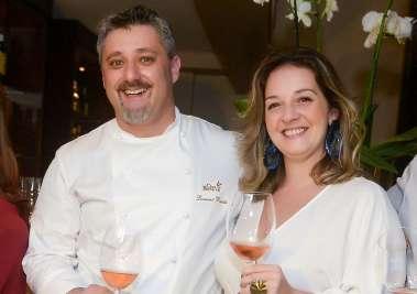 Laurent Rezette chef do Chez Bernard e Lorrayne Ricobenne da Cantu Iportadora de Vinhos em fotos de Valterio