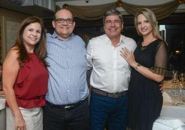 Verônica e Ademar Lemos,Carlos Falcão  e Mariane em fotos de Valterio