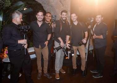 Alguns dos fotógrafos do casamento de Daniela  Moura e Gilvan Landin em fotos de Valterio Pacheco