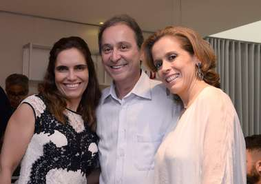 Munique Melo, Antonio Gatto e Paula Almandra na Ornare
