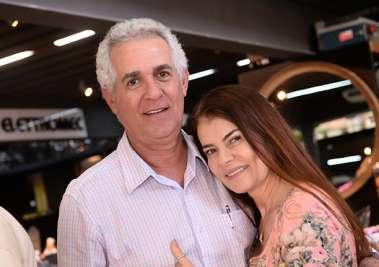 João Dias e Yolanda Almeida no carurú de Conceição Valente