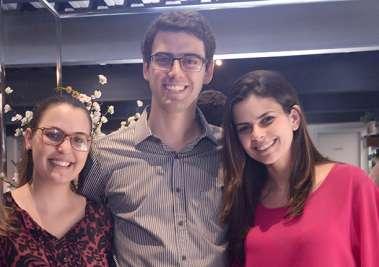 Gabriela e Rafael Valente com Daniela Valente Sande