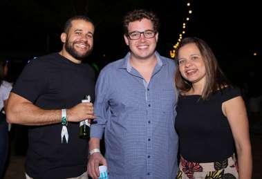 Diego Chavez, Dudu Prado e Fabrizia Dias