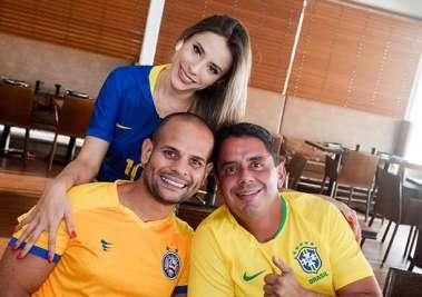 Ana Terra e Dr. Gabriel Almida especialista em emagrecimento, com o famoso advogado Gamil Fopel em fotos de Valterio