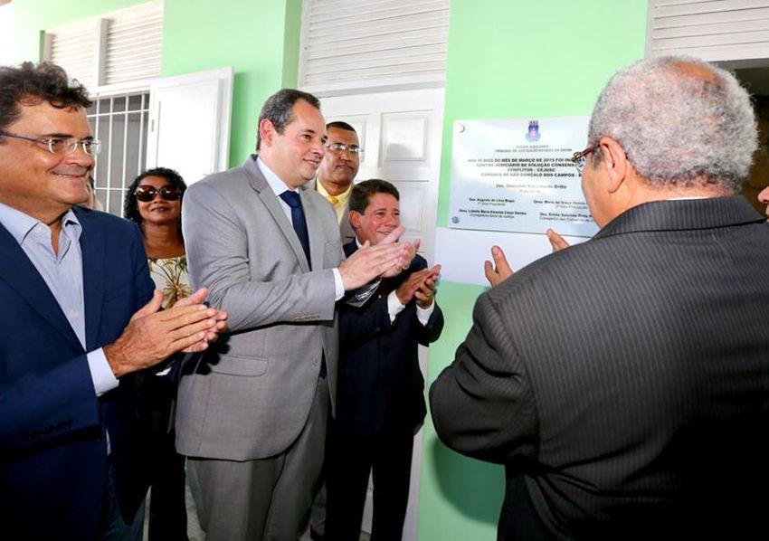 Após inauguração do CJSC em São Gonçalo dos Campos Nelson Leal disse que