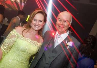 Verônica Machado Cunha Guedes(mãe da noiva) e Alex Cunha Guedes em fotos de Valterio