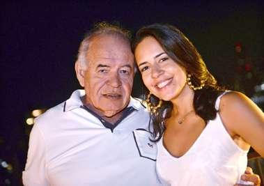 prof. Zé Nilton Pereira Carvalho com a filha Clara