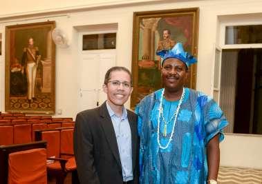 Paulo de Tarso e Felix Ayoh' Omidire da Nigéria em fotos de Valterio
