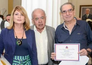 Mary e prof. José Nilton Carvalho Pereira e Armando Barreto Rosa em fotos de Valteiro