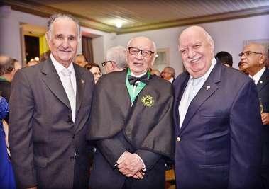 Dr. Aristides Malthez,  Dr. Geraldo Leite e Dr. Maurício Nunes em fotos de valerio