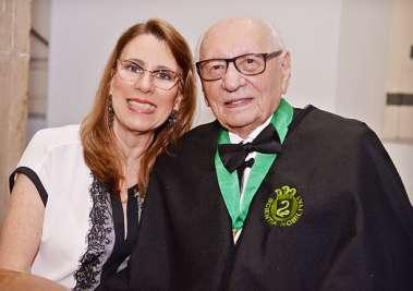 Laudiceia e Geraldo Leite presidente da Fundação José Silveira em fotos de Valterio Pacheco