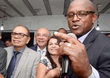 Pastor Luiz Cesar da CONFRAMADEB em sua falação em fotos de Valterio Pacheco