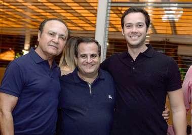 Geraldo Correia, Beto Araújo e Geraldo Correia Filho em fotos de Valterio