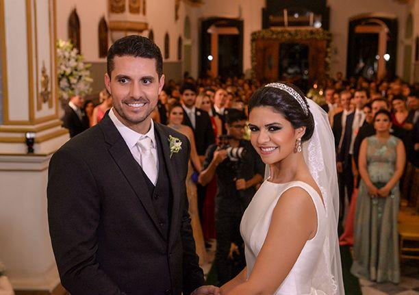 Thais Darzé e Rodrigo Aouad se casaram na Igreja da Vitória dia 29, seguido de recepção no Cerimonial Cunha Guedes