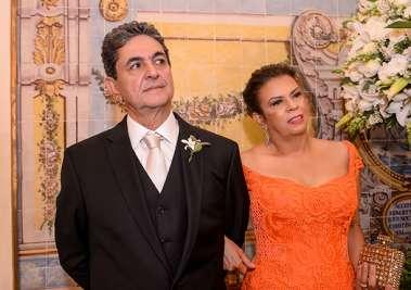 Cristina e Paulo Darzé pais do noivo