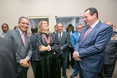 Governador Rui Costa, Norma Cavalcanti e Nelson Leal presidente da Câmara dos deputados  de Salvador