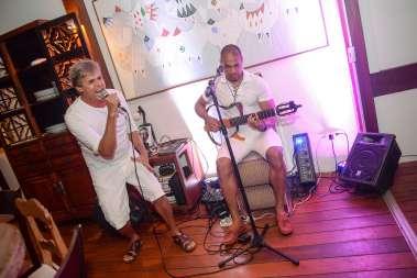 Os músicos Dino Brasil e Sérgio Dau em fotos de Valterio Pacheco