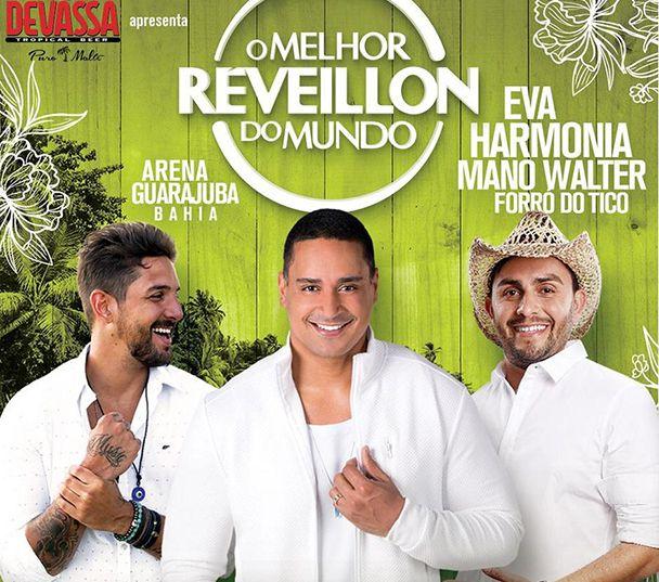 Harmonia, EVA e Mano Walter misturam ritmos no Melhor Réveillon do Mundo 2019