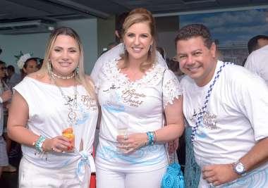 Fernanda Possa, Monica e Marcelo Sacramento o comodoro do Yacht Clube da Bahia em fotos de Valterio