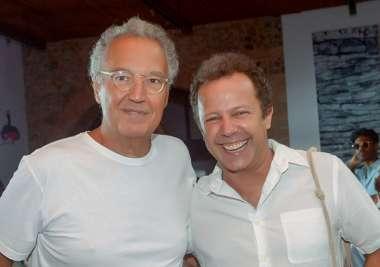 Nizan Guanaes e Vik Muniz o fotógrafo em fotos de Valterio Pacheco