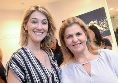 Patrícia Novis e Leila Brito, ambas da Fundação José Silveira em fotos de Valterio