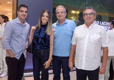 Felipe Sica e Manuela Rey,Tony Tawil e Carlos Maracajá em fotos de Valterio