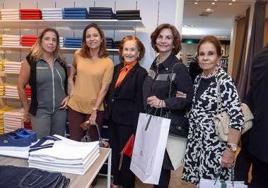 Eliane Carvalho, Cristiana Mathias, July Isensee, Tereza Penedo e Maria Helena Almeida em fotos de valterio