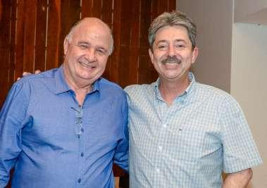 Jorge Sande e Fernando Tenório do Bradesco em fotos de Valterio Pacheco